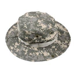 a6b5d02804e Outdoors Men Women Camouflage Round Cap Fishing Camping Climbing Hiking  Mountaineering Sunscreen Sports Tactical Hat