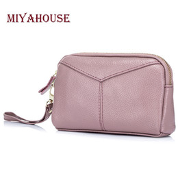simple cell phones NZ - Miyahouse Women Day Clutch Bags European Simple Female Small Zipper Clutches Bag Shell Design Ladies Phone Clutch Handbags