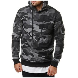 $enCountryForm.capitalKeyWord Canada - Mens Hoodie Sweatshirt Camouflage Jackets Men Military Clothing Hoodied Hoodies Arm Pocket Army Green Tracksuits Workout Clothes