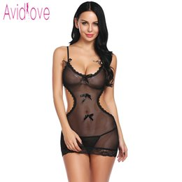 New sex uNderwear online shopping - Avidlove New Floral Lace Lingerie Sexy Hot Erotic Underwear Women Mini Babydoll Dress Chemise Nightwear Sex Costume D18110801