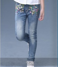 $enCountryForm.capitalKeyWord NZ - New Hot sale children in the spring and autumn stretch cotton jeans girls cultivate one's morality leisure long denim trousers