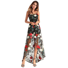 1e820a3ffa1f See Through Prom Dresses Tulle Sexy Luxury Braces Skirt Women Party Gown  Long Floral Embroidery Beading Prom Dress Evening