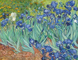 van gogh prints canvas NZ - Vincent Van Gogh Irises Oil Painting Reproduction High Quality Picture Giclee Print Canvas Modern Home Art Decor Unframed or Framed HT631