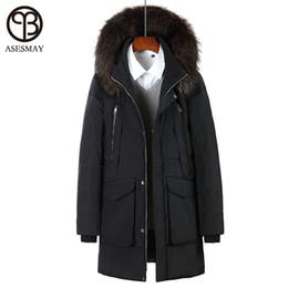1c51d17fa2e6 Asesmay 2017 Brand Men Winter Jacket White Duck Down Parka With Hood Real  Fur Winter Down Coat Wellensteyn Jackets Warm Outwear