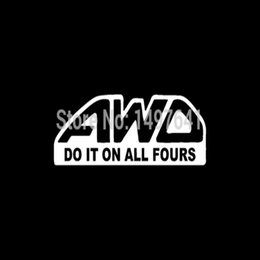$enCountryForm.capitalKeyWord Australia - HotMeiNi Wholesale 20pcs lot Awd Do It On All Fours Reflective Sticker Decal For Truck SUV Door Kayak Canoe Funny JDM Racing Humour Joke