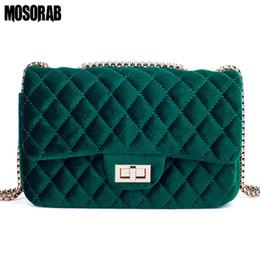 Luxury Chains Australia - MOSORAB Velour Shoulder bag Women Bag luxury handbags designer Brand Ladies Chain Velvet Crossbody Messenger Bags Sac A Main D18102407