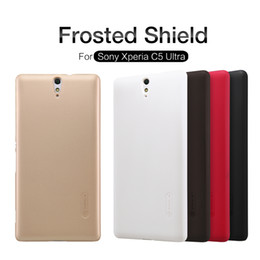 Shield Protector Cases Australia - wholesale Case for Sony Xperia C5 Ultra Super Frosted Shield Plastic back cover for Sony C5 Ultra Phone Case with screen protector