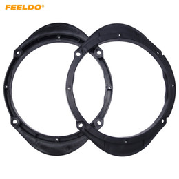 "Discount m8 speaker FEELDO 2PCS 6.5"" Car Speaker Spacer for Mazda M3 M5 M6 M8 Besturn B50 B70 X80 Audio Horn Refit Rings Mat Mount Blac"