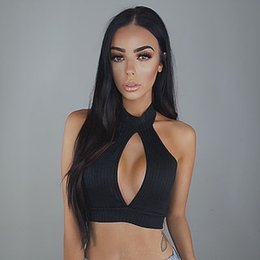 V cut bra online shopping - Sexy Women Fashion Crop Tops Solid Color Tops Bustier Bra Vest Low Cut Chest Crop Top Bralette Sleeveless