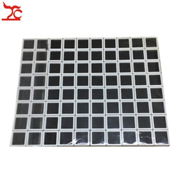 Pendant Displays Australia - 80Pcs Plastic Square Loose Diamond Display Package Box White Gem Case Black Memory Foam Pad Beads Pendant Box Showcase 3*3*2cm