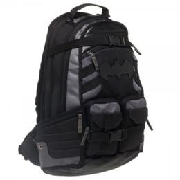 Batman Backpacks Australia - Batman Captain America Men Backpacks Superhero  Bag Sport Backpack School Bag Deadpool e94229c92160e