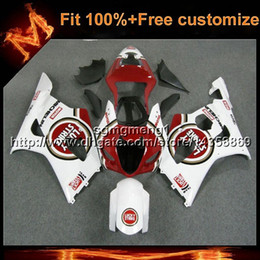 gsxr fairing red white 2018 - 23colors+Gifts Injection mold lucky red white Body Kit motorcycle cowl for Suzuki GSX-R1000 03 04 GSXR 1000 2003 2004 AB