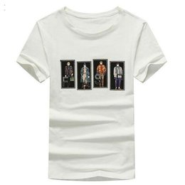 Cotton Print Material NZ - HEE GRAND 2018 New Design Summer Men T- Shirts Cotton Material Short Sleeve Character Printed Decoration Casual Top Tees MTS2506