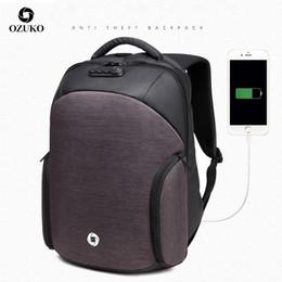 man fashion school back pack 2019 - New Anti Theft Mens Waterproof Laptop Bags Fashion USB Charging Male Business Travel Backpacks Teenager Fashion School B