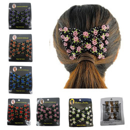 Discount ladies hair combs - Fashion Magic Hair Comb for Ladies Acrylic Beads Elasticity Double Bead string Clamp Stretchy hair style tool accessorie