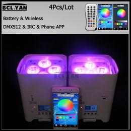 $enCountryForm.capitalKeyWord Australia - Hot sale !! IRC Remote Control Wifi APP Smart UPLIGHT 4*18W 6in1 RGBAW UV Battery Wireless DMX LED Par Light 4XLot