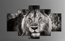 $enCountryForm.capitalKeyWord Australia - Lions Black Abstract Art,5 Pieces The Latest Most Popular High-definition Canvas Printed Home Decorative Art  Unframed   Framed