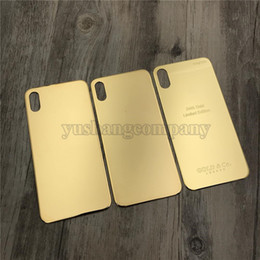 $enCountryForm.capitalKeyWord Australia - For Iphone X Back Housing Glass Replacement 24K Gold Glass Frame For Iphone X With Diamonds 3 Types London Text Housing Free Tools