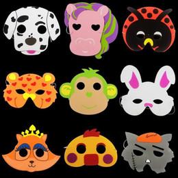 Discount elephant masks - Kids Eva Cartoon Mask Elephant Tiger Party Masks Fashion Kawaii Foam Full Face Masks Children Day Gift Toy Many Styles 0