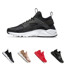 outdoor sports lighting 2020 - 2018 Huarache 1.0 4.0 Triple White Black Ultra Huarache Shoes Men And Womens Huaraches sports Sneakers Running Shoes Siz