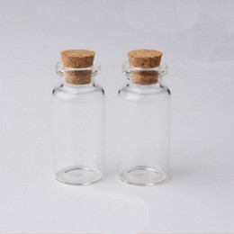 bottles wood cork NZ - 12ml Mini Glass Clear Wish Cork Vial Wood Stoppers 22x55X12mm(HeightxDia) Message Weddings Jewelry Party Favors Bottle Jar Tube