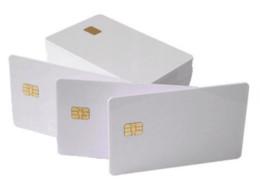 $enCountryForm.capitalKeyWord Australia - (500pcs lot)Credit Card Size Contact IC Smart Card Rfid SLE4442 Chip White Blank PVC Smart Card
