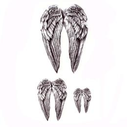 ee33c98d3 Angel wings Waterproof Temporary Tattoos Men harajuku Maquagem tatouage  temporairre peaca Beauty Sleeve Tatoo rouge a levre