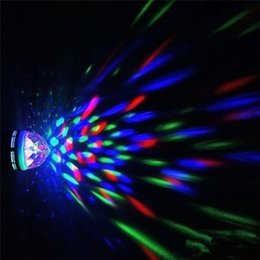 Rotating Disco Ball Light Australia - Onedayshop RGB Crystal Ball Effect Light E27 LED Rotating Stage Lighting For Disco DJ Party Home Party Supplies Decoration