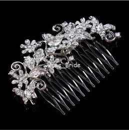 $enCountryForm.capitalKeyWord NZ - Free Shipping Wedding Hair Comb Bridal Jewelry Accessories Crystal Hair Brush Butterfly Headpiece for Bride Low Price