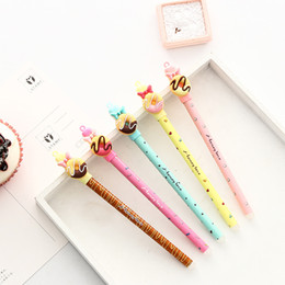 $enCountryForm.capitalKeyWord Canada - 4 pcs lot Cute Donuts Erasable gel pen Kawaii 0.5mm blue ink Signature pens for writing Stationery office school supplies