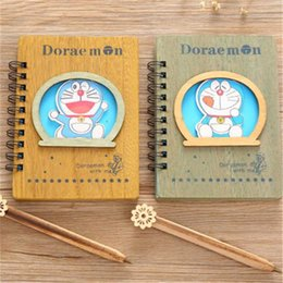 $enCountryForm.capitalKeyWord NZ - Doraemon Wooden NotSet Anime Ballpoint Note Book With Pen NotSet Diary Day Journal Stationery School Supplies 18cm