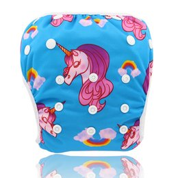 China Baby Swimwear 2018 Brand Swim Diaper Wear for Baby Reusable Toddler Swimsuit Unicorn Adjustable Infant Boy Girl Swimwear supplier wearing diapers suppliers