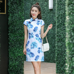7908600c189 elegant traditional chinese dresses 2019 - SZYMGSSummer Women Vintage  Chinese Traditional Dress Fashion Vintage Cheongsam Qipao