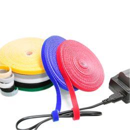 cf37692d3108 1cm*25m back to back Cable Ties nylon strap magic tape sticks hook&loop Magic  strap free cutting bind