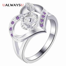 Discount 925 ring stamp - whole saleWholesale fashion silver 925 stamped ring finger unique handmade classic women lady drop ship gift flower patt