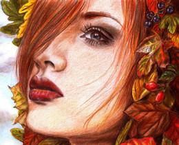 $enCountryForm.capitalKeyWord NZ - Cartoon Art Girl's Face,Oil Painting Reproduction High Quality Giclee Print on Canvas Modern Home Art Decor E035