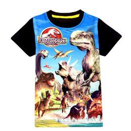 China Jurassic World Dinosaur Children Boys Cotton Cartoon T Shirt Summer Baby Kids Boys Tops Tee T Shirts for Children Boys Clothes Garments 3-9Y cheap 3t dinosaur shirt suppliers