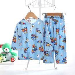 Discount pajamas hottest - Printing Winter Clothes For Kid Cartoon Cotton Children'S Pajamas Anime Pattern Hot Sale pyjamas O-Neck Home Suit F