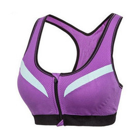 6d8cbcc831 Shockproof Sports Shirts Bra For Women Fitness Gym Vest Outdoor Running  Yoga Outfits Jogging With Zipper Underwear 22yf Ww