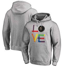 Men s 2018 Vegas Golden Knights Fanatics Branded Heather Gray Hockey Is For  Everyone Love Square Ice Hockey Pullover Hoodies Sweatshirts 4137b14e2