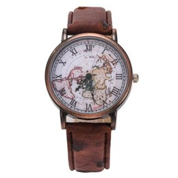 World clock map nz buy new world clock map online from best hot new relojes geneva fashion leather watch men women hour world map design analog quartz watch clock female wholesale gumiabroncs Gallery