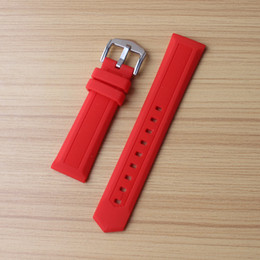 $enCountryForm.capitalKeyWord Canada - New 14mm 16mm 18mm 20mm 22mm 24mm Silicone Rubber Watchbands Wearing Straps for Sport Watches mens Band Wrist Belt Bracelet Red
