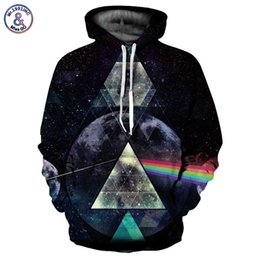 rainbow hoodies 2019 - Mr.1991INC Space Galaxy Hoodies Men Women Unisex Hooded Sweatshirts 3d Print Light Refraction Rainbow Fashion Hoody Stre