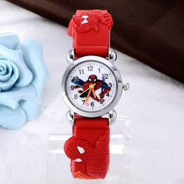 kids watch silicone bands NZ - 3D Kids Cartoon Watch Lovely Silicone Band Watch Casual Spiderman Ultraman Pikachu Children Clock Creative Quartz Wristwatch Christmas Gift