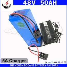 Motor Bicycles Australia - e-Bike Battery 48V 50Ah 1800W For Bafang Motor Electric Bicycle Battery 48V With 5A Charger 50A BMS Lithium Battery Pack 48V