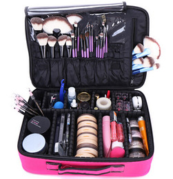 Professional Makeup Boxes UK - Makeup Bag Organizer Professional Makeup Box Artist Larger Bag nail pattern