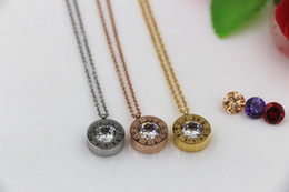 Changing rose online shopping - Fashion color drill Pendant Necklace for Women s Titanium steel plating Rose Gold Change drill BVL Jewelry