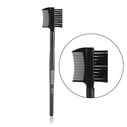 makeup brushes purpose UK - New Hot Fashion Beauty Black Dual Purpose Eyelash Eyebrow 2 in1 Brush Comb Makeup Tool Cosmetic