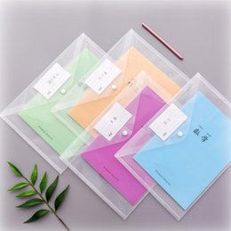 School File Holder NZ - transparent a4 document bags practical plastic file folders book paper storage holders school office supplies fashion stationery