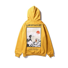Wholesale japanese fashion hoodie for sale – custom Japanese Embroidery Funny Cat Wave Printed Fleece Hoodies Winter Japan Style Hip Hop Casual Sweatshirts Streetwear